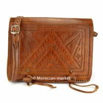 Yusufya leather Satchel handcrafted in Morocco
