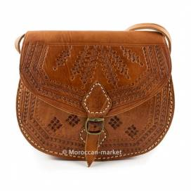 Nouara Moroccan leather bag