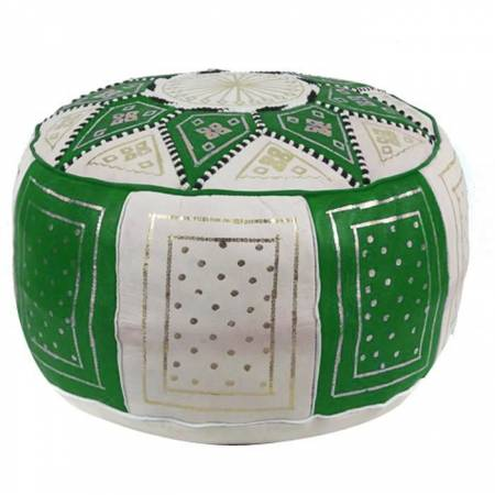 Traditional pouf in green