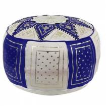 Traditional pouf in blue