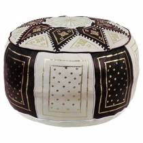 Traditional pouf in black