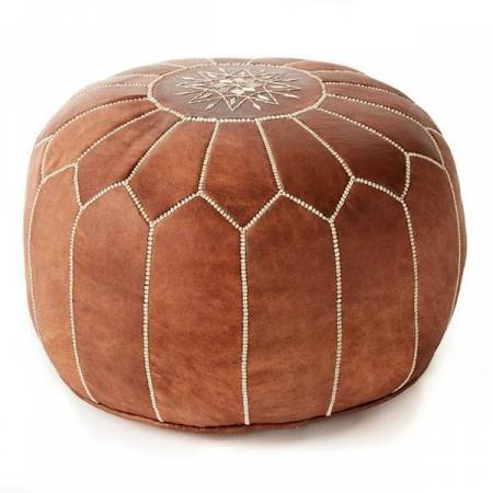 Moroccan brown pouf