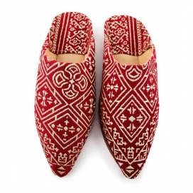 Kenza leather babouche Slippers