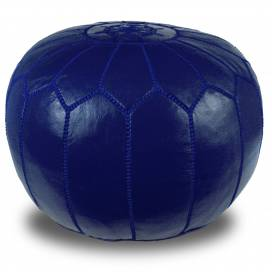 pouf blue design