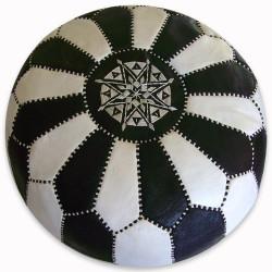 Moroccan pouf checkerboard