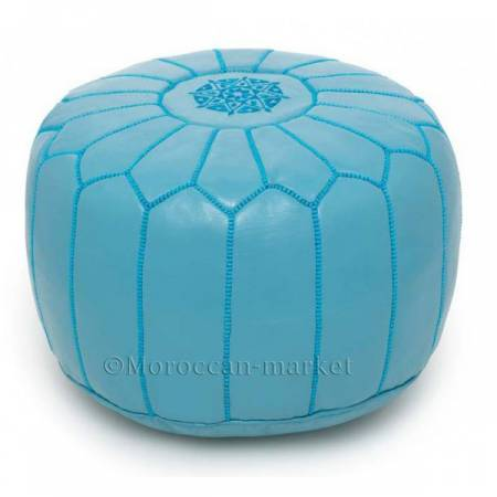 pouf blue design sky