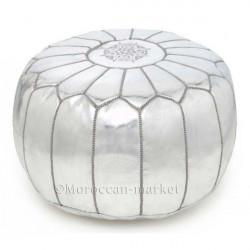 Moroccan silver pouf