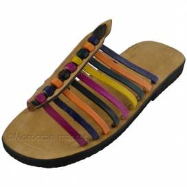 Moroccan handmade leather sandals Essaouira