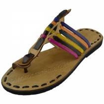 Essaouira Flip Flops with a natural tanning leather