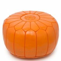 Mandarine Moroccan leather pouf