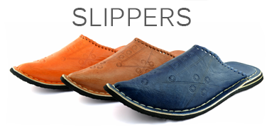 Moroccan leather Babouche slippers