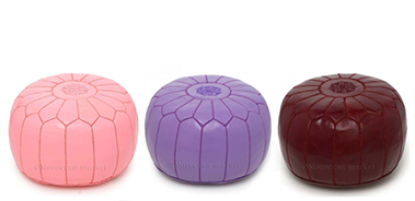 Moroccan handmade Leather Poufs